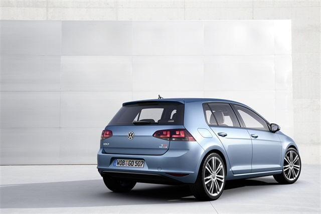 The rear of the VW Golf.
