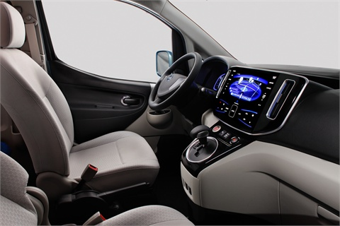 The Nissan e-NV200 Concept has a touch-screen-based telematics system.