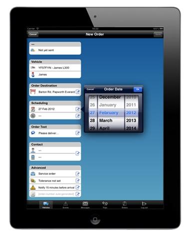 WEBFLEET Mobile fleet management app from TomTom Business Solutions.