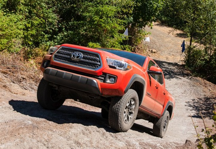 Photo of 2016 Tacoma TRD courtesy of Toyota.