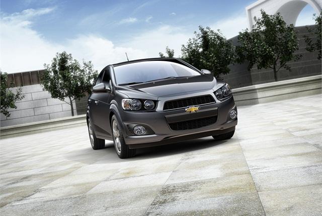 The 2014-MY Chevrolet Sonic. Photo courtesy GM.