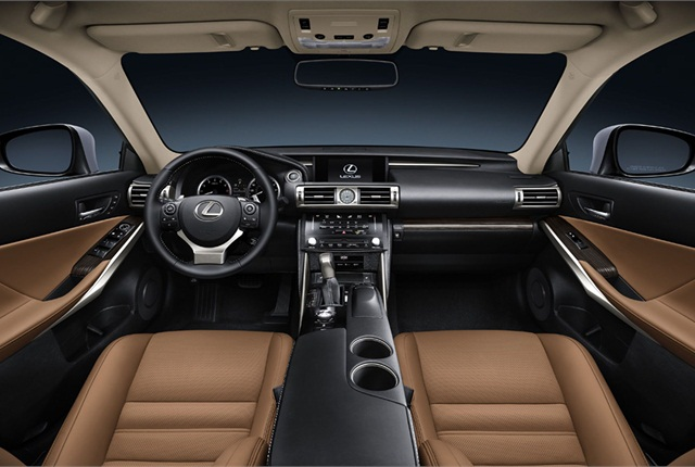 Inside, the IS comes standard with either the Lexus Display Audio or Remote Touch-controlled Navigation multimedia systems. Photo courtesy Toyota.
