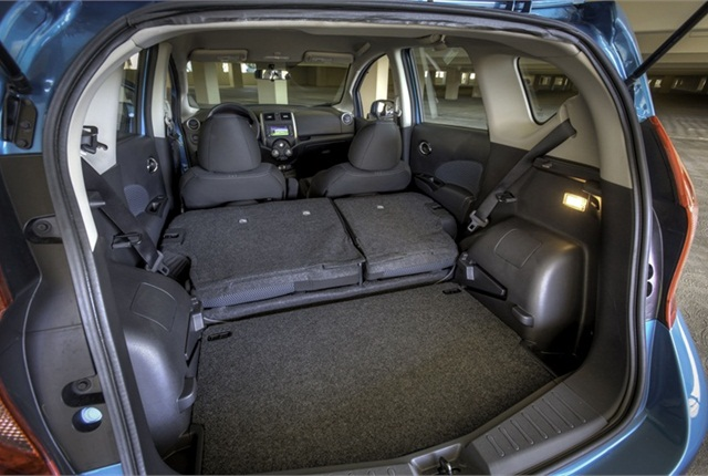 The Versa Note offers 21.4 cu. ft. of cargo space. It also has 60/40 split fold-down seats for added room.