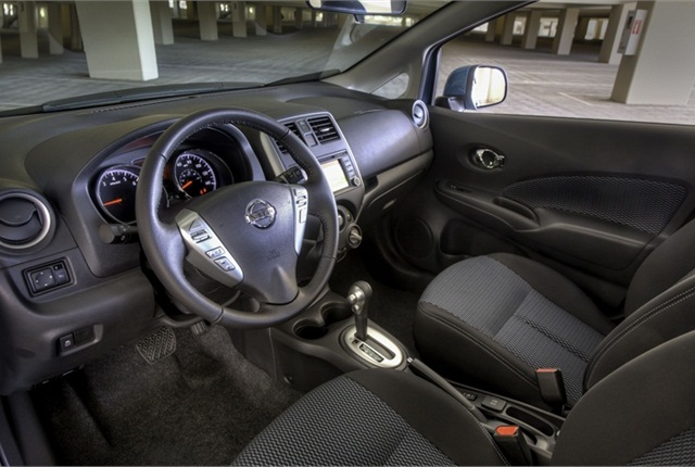 Even though this is an entry-level vehicle, Nissan is offering its Around View Monitor, which uses four cameras on the front, sides and rear of the vehicle.