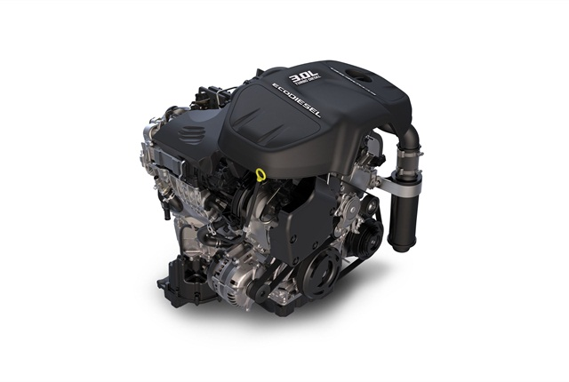 The 3.0L EcoDiesel V-6 available in the 2014 Ram 1500.