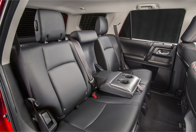In the back, the second-row seats can recline up to 16 degrees. Third-row seats are optional on the SR5 and Limited grades. Photo courtesy Toyota.