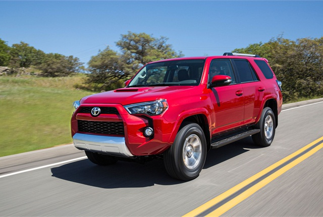 Toyota said it redesigned the 4Runner's front fascia to give it a more aggressive appearance for MY-2014. Photo courtesy Toyota.