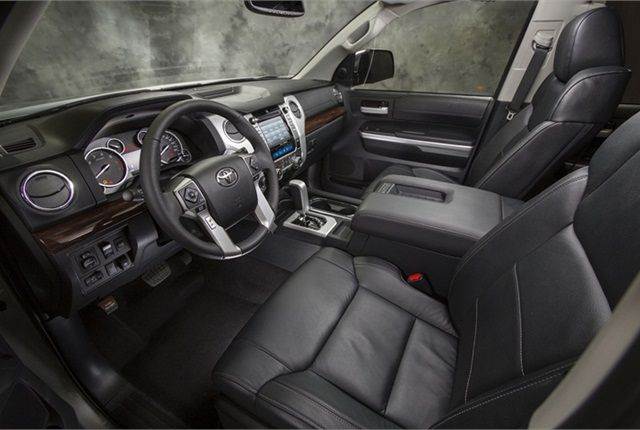 The interior of the new Tundra.