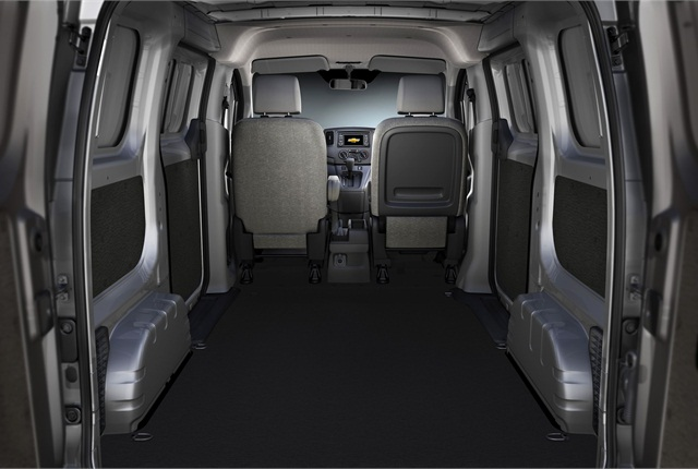 The 2015 Chevrolet City Express features rear doors with opening positions of 90 and 180 degrees, and cargo volume of 122.7 cubic feet that fits a standard U.S. 48-inch pallet. Photo courtesy GM.