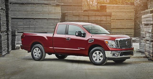"""The 2017 Nissan Titan King Cab offers available 6-person seating, wide-opening rear doors and a """"rear seat delete"""" option for commercial use with its flat floor and secure in-cab storage space. Photo courtesy of Nissan."""