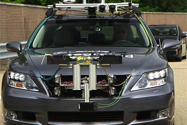 "The Advanced Active Safety Research test vehicle, based on the Lexus ""LS,"" is being used in research at the Toyota Research Institute of North America in Saline, Mich."