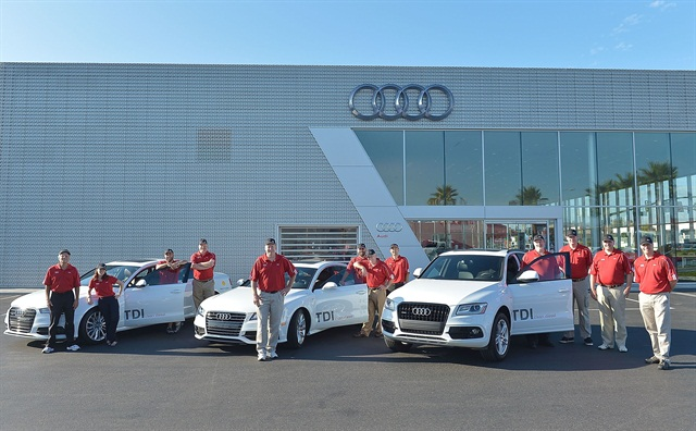 Audi challenged eight drivers to drive from California to New York in the automaker's new TDI models in 48 hours with only four stops for refueling. Photo courtesy Audi.