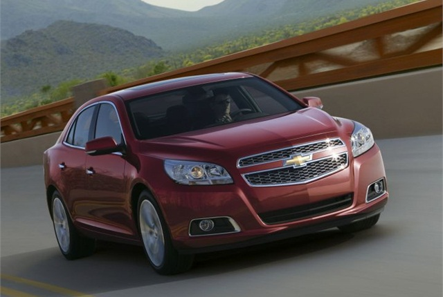 Photo of 2013 Chevrolet Malibu courtesy of GM.