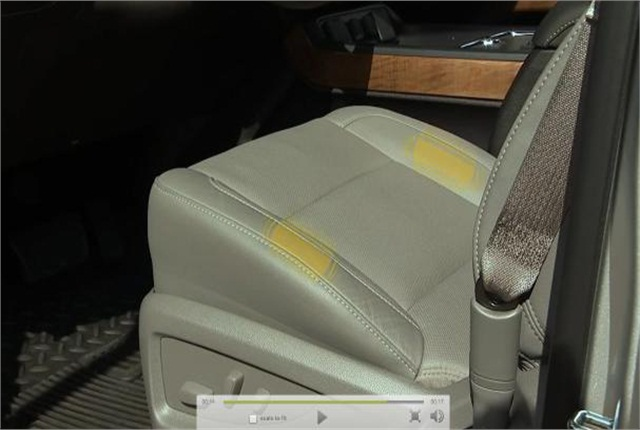 """Chevrolet's Safety Alert Seat uses haptics, a tactile feedback technology that re-creates the sense of touch by using left and/or right """"tapping"""" vibration pulses to direct the driver to the location of a crash threat. Photo courtesy of General Motors."""