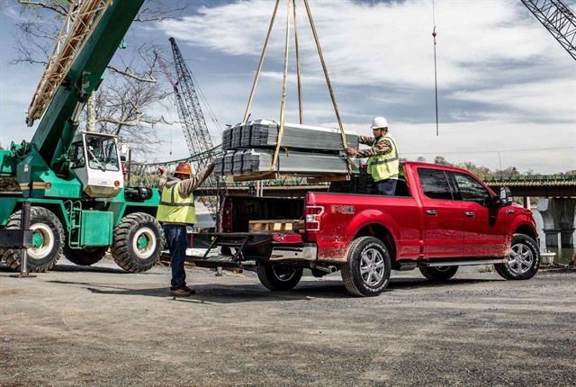 A truck's chassis manufacturer determines a vehicle's gross vehicle weight rating (GVWR). The GVW is the total weight of a truck and its payload. Photo courtesy of Ford