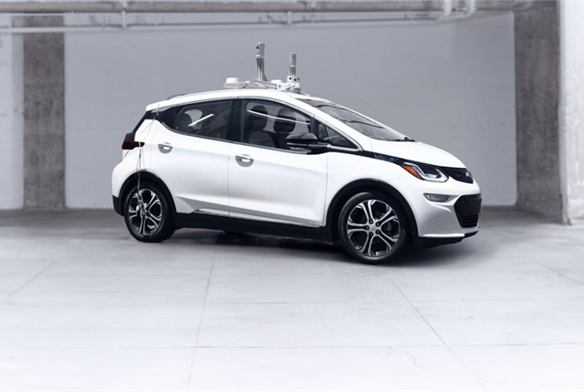 Photo of self-driving Chevrolet Bolt EV courtesy of Cruise Automation.