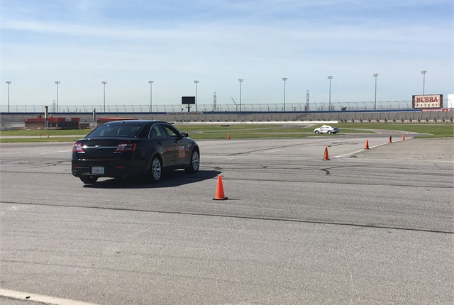 The road course demoed a vehicle with optimized shift points showing improved drivability and responsiveness for police officers. Photo by Andy Lundin