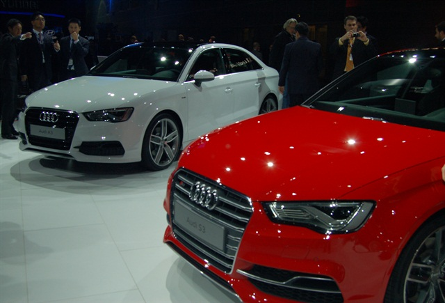 Audi unveiled its new 2015 A3 and S3 sedans. Photo by Amy Winter.