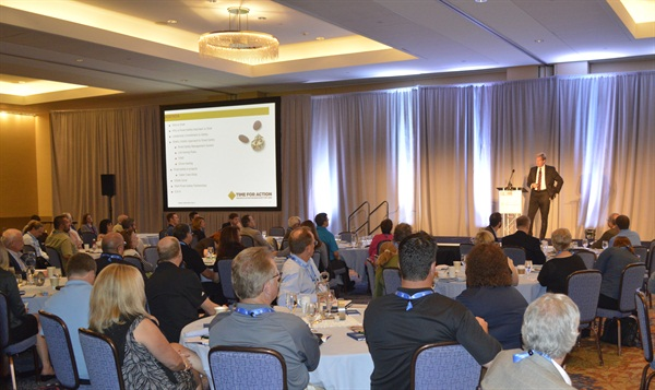 Attendees at the 2015 Fleet Safety Conference learn about Shell's comprehensive safety program from Mike Watson, Shell's global road safety manager. Photo: Chris Wolski