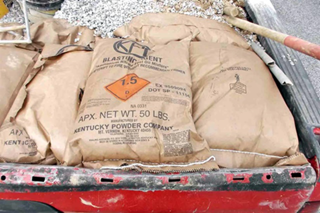 Inspectors found RC Stone & Farms had transported explosive materials without following safety rules or filing proper paperwork. Photos courtesy FMCSA