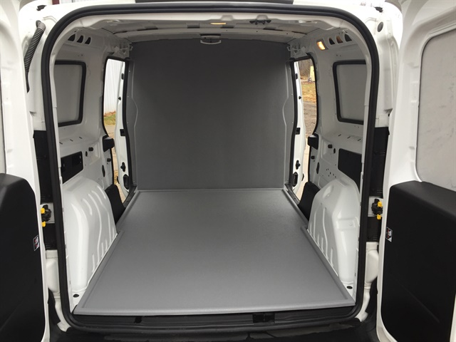 The Ram ProMaster City's cargo hold features three points of entry, a class-leading 131.7 cubic feet of cargo capacity, upfit-friendly side walls, and an affordable and easy-to-install seamless sealed bulkhead.