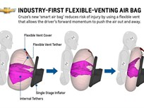 2013-MY Chevrolet Cruze Debuts Flexible Venting Driver Air Bag