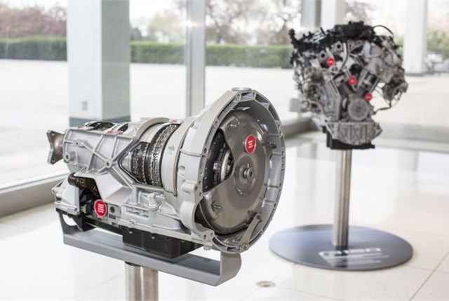 Photo of 10-speed transmission and 3.5L EcoBoost engine courtesy of Ford.