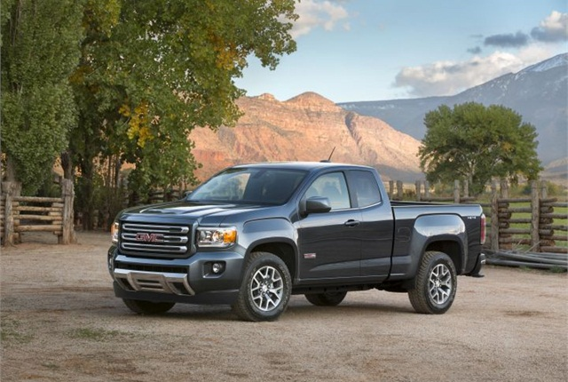 Photo of 2015 GMC Canyon SLE extended cab courtesy of GM.