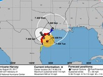 Travel Advisories in Effect as Hurricane Harvey Nears Texas