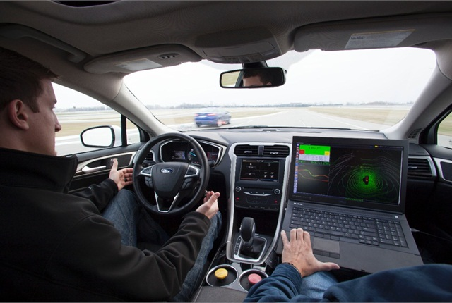 The Ford Fusion Hybrid automated research vehicle will be used to make progress on future automated driving and other advanced technologies. Photo: Ford Motor Co.