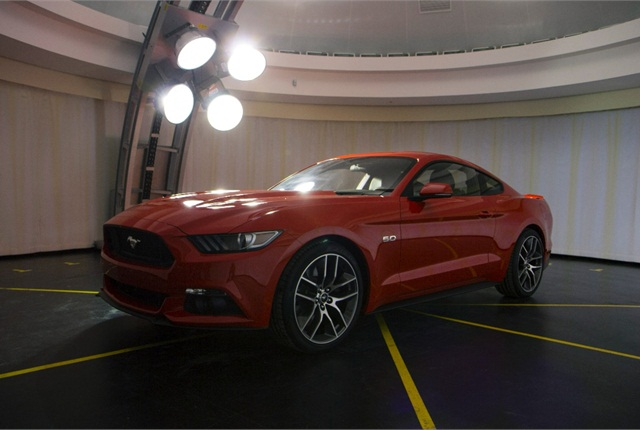 The 2015 Ford Mustang in Ford's Visual Performance Evaluation Lab in Dearborn, Mich. Photo courtesy of Ford.