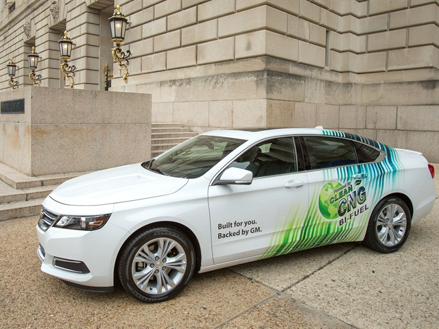 The 2015 Chevrolet CNG-capable Bi-fuel Impala was unveiled in Washington, D.C. Photo credit: General Motors