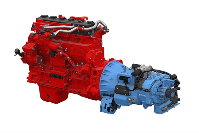 The powertrain will combine an Eaton UltraShift PLUS automated transmission with the Cummins Westport ISX12 G engine.
