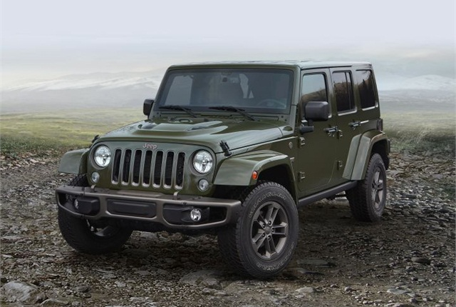 Photo of 2016 Jeep Wrangler courtesy of FCA US.