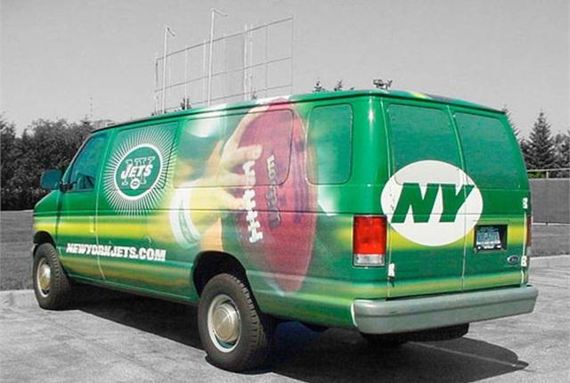 Photo of vehicle wrap courtesy of JMR Graphics.