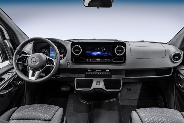 One of four dashboards offered on the 2018 Sprinter. Photo courtesy of Mercedes-Benz.