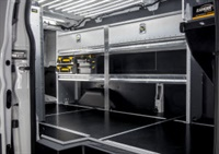 Photo of new van flooring courtesy of Ranger Design.