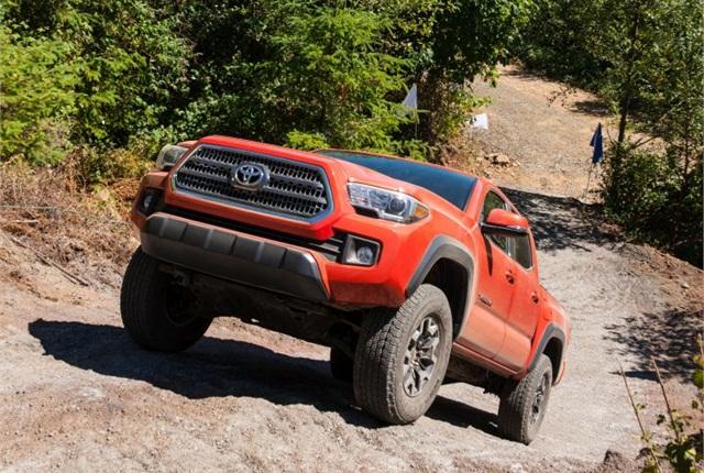 Photo of 2016 Tacoma TRD courtesy of Toyota.