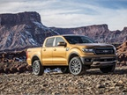 The Ranger will be available in three trim grades: XL, midlevel XLT, and a high-level Lariat trim series. It will include FX Off-Road packages, and in SuperCab or SuperCrew cab configurations. (Photo courtesy of Ford Motor Co.)