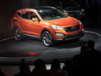 <p>Hyundai revealed the Santa Fe Sport at the New York Auto Show.</p>