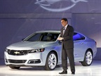 <p>GM's Mark Reuss at the Impala unveiling.</p>