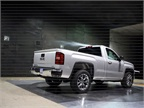 <p>A 2014-MY GMC Sierra undergoes testing at GM's Aerodynamics Lab. Photo courtesy GM.</p>