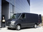 <p>Mercedes said the redesigned 2014-MY Sprinter van will come with a four-cylinder diesel engine as standard. Photo courtesy Mercedes.</p>