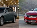 <p>The 2013 incarnation of the Impala (left) will live on as a fleet-only 2014-MY vehicle called the Impala Limited. The all-new 2014 Impala (right), on the other hand, will be offered to both retail and fleet customers.</p>