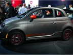 Photo by Grace Suizo.The Fiat 500e at the 2012 Los Angeles Auto Show.