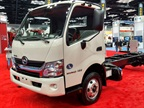 <p><strong>The Hino Model 155 at the Work Truck Show.</strong> <em>Photo by Tom Berg</em></p>