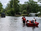 Coast Guard Flood Punt Teams conduct rescue operations in Jacksonville, Florida, Sept. 11, 2017. Photo: Courtesy of U.S. Coast Guard District 7