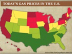 <p>This chart from AAA shows the range of gasoline prices on a regional basis.</p>
