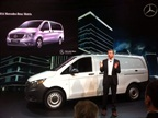 <p><strong>New for North America is the Mercedes-Benz Metris, rolled out at NTEA.</strong> <em>Photo: Tom Berg</em></p>
