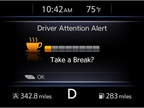 Nissan's Driver Attention Alert System. Photo courtesy of Nissan.